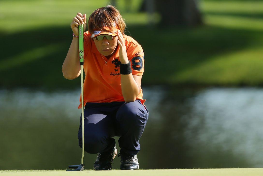 ニトリレディスゴルフトーナメント 2日目 穴井 詩 <写真:Atsushi Tomura/Getty Images>