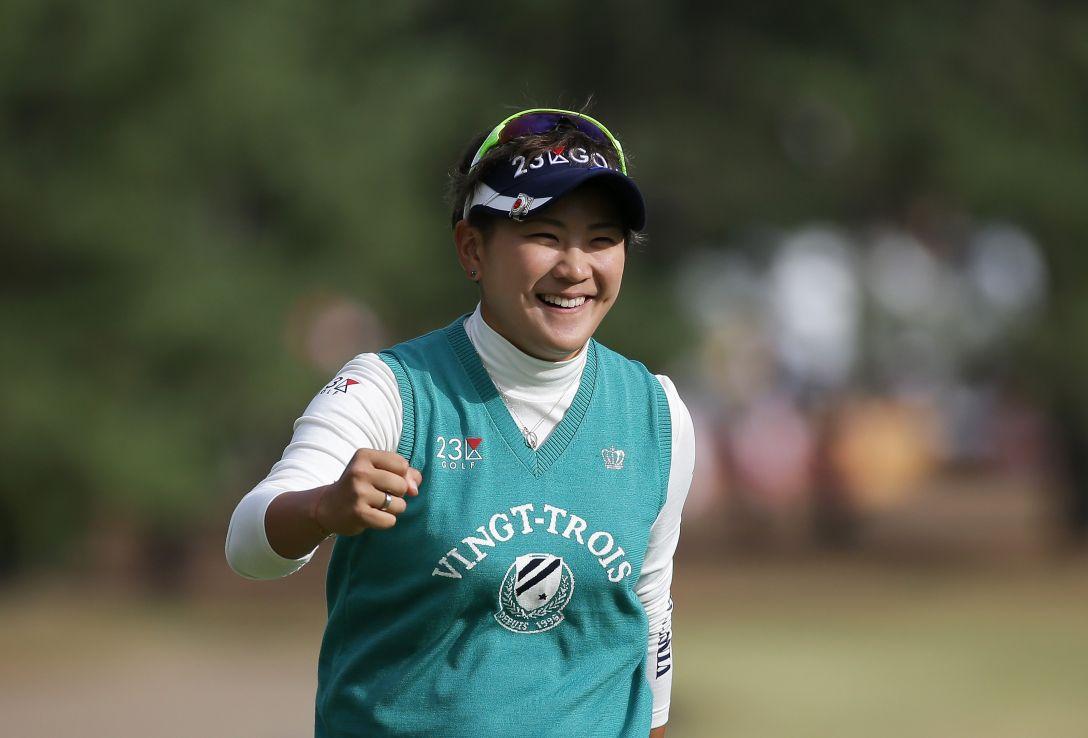 LPGAツアーチャンピオンシップリコーカップ 1日目 成田美寿々<写真:Chung Sung-Jun/Getty Images>