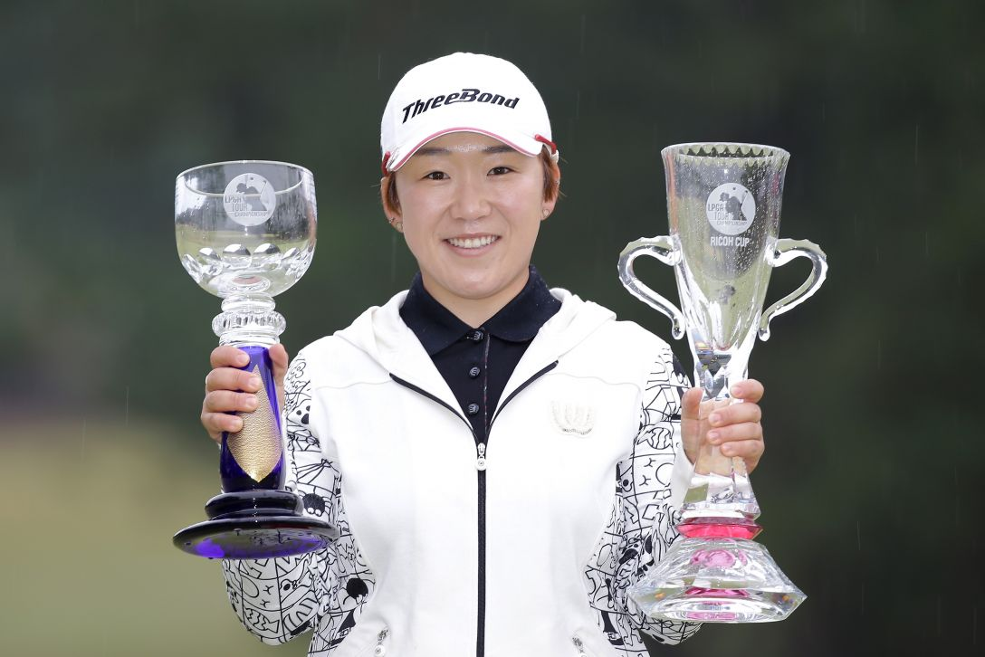 LPGAツアーチャンピオンシップリコーカップ 最終日 申 ジエ <写真:Chung Sung-Jun/Getty Images>