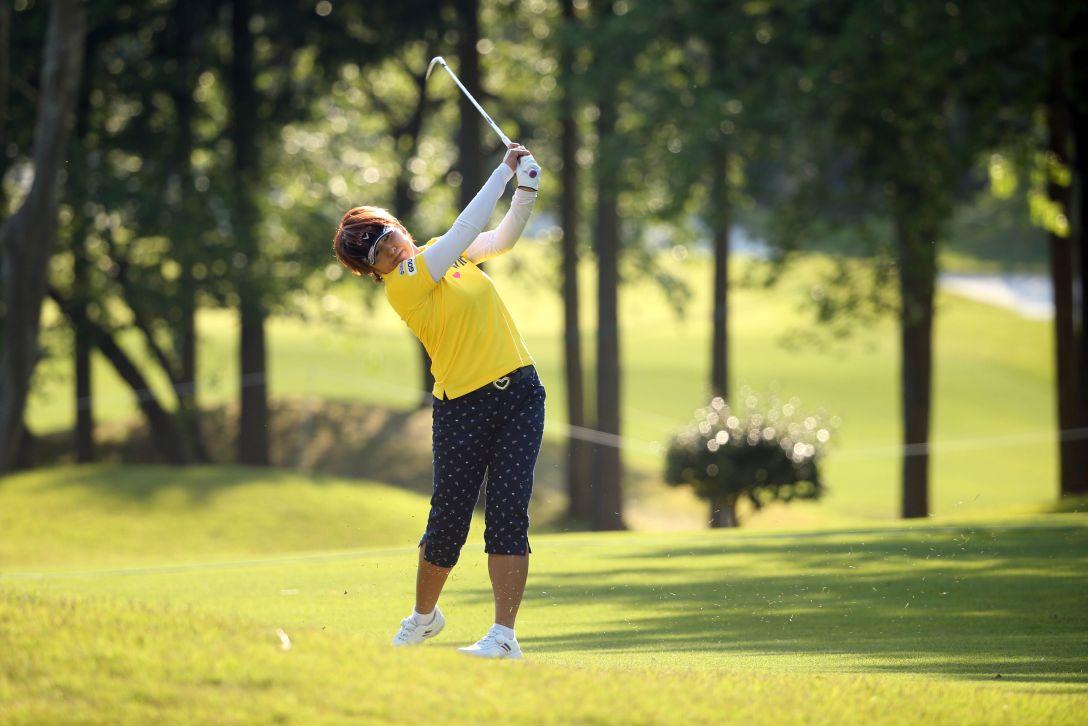 サイバーエージェント レディスゴルフトーナメント 2日目 福嶋浩子 <Photo:Atsushi Tomura/Getty Images>