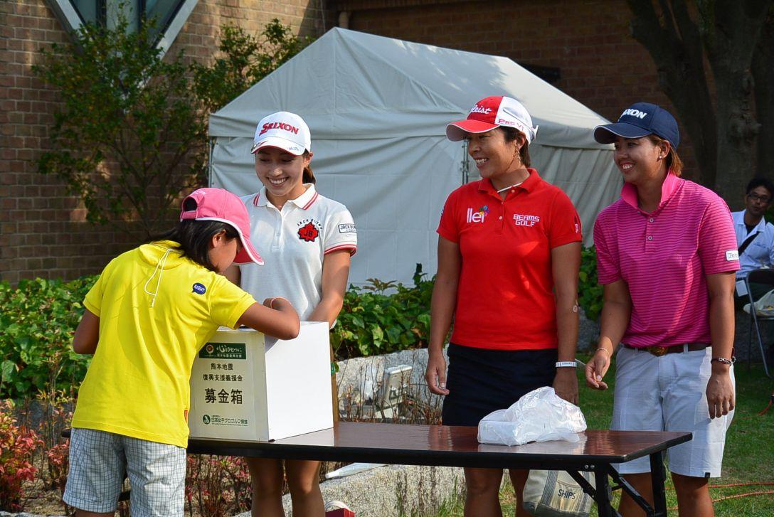 山陽新聞レディース 1日目 熊本地震復興支援募金活動
