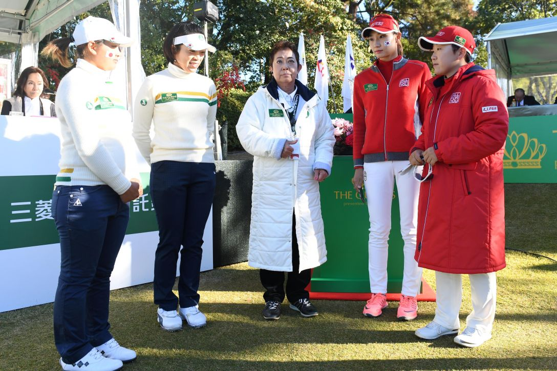 THE QUEENS 2日目 コイントス <Photo:Atsushi Tomura/Getty Images>