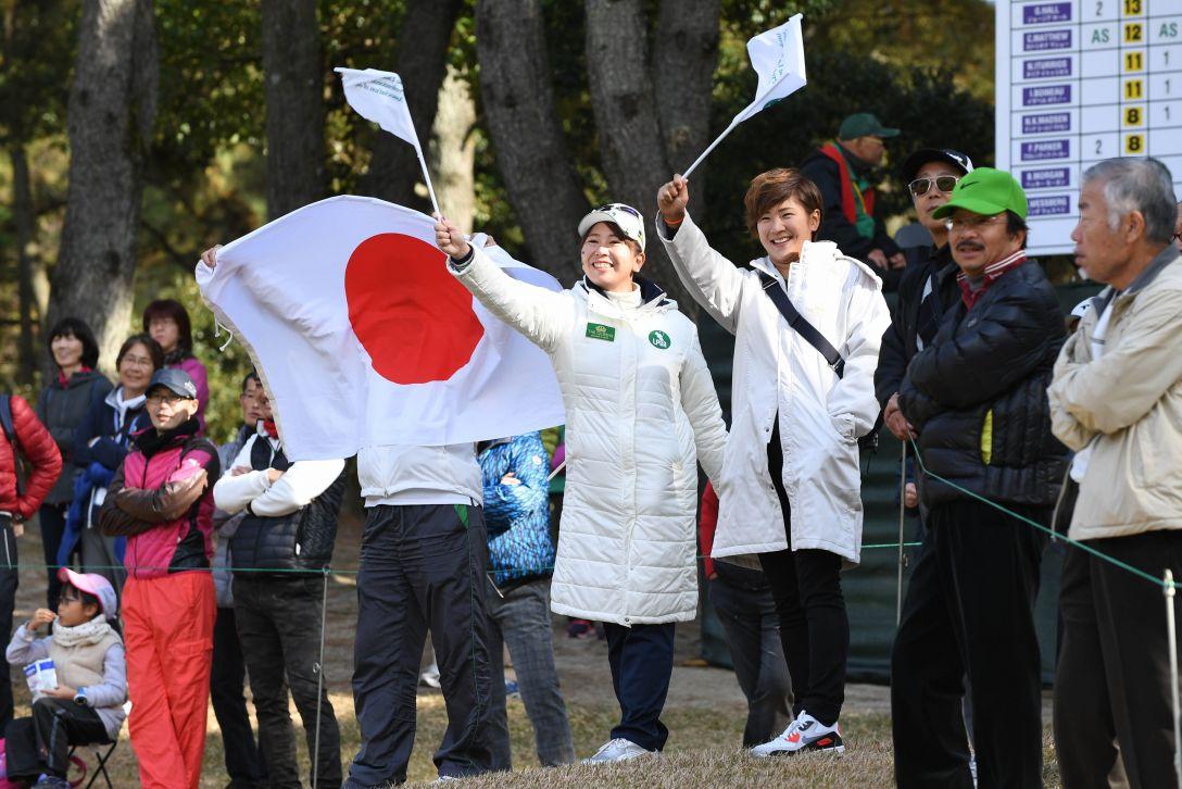 THE QUEENS 最終日 吉田弓美子、成田美寿々 <Photo:Atsushi Tomura/Getty Images>