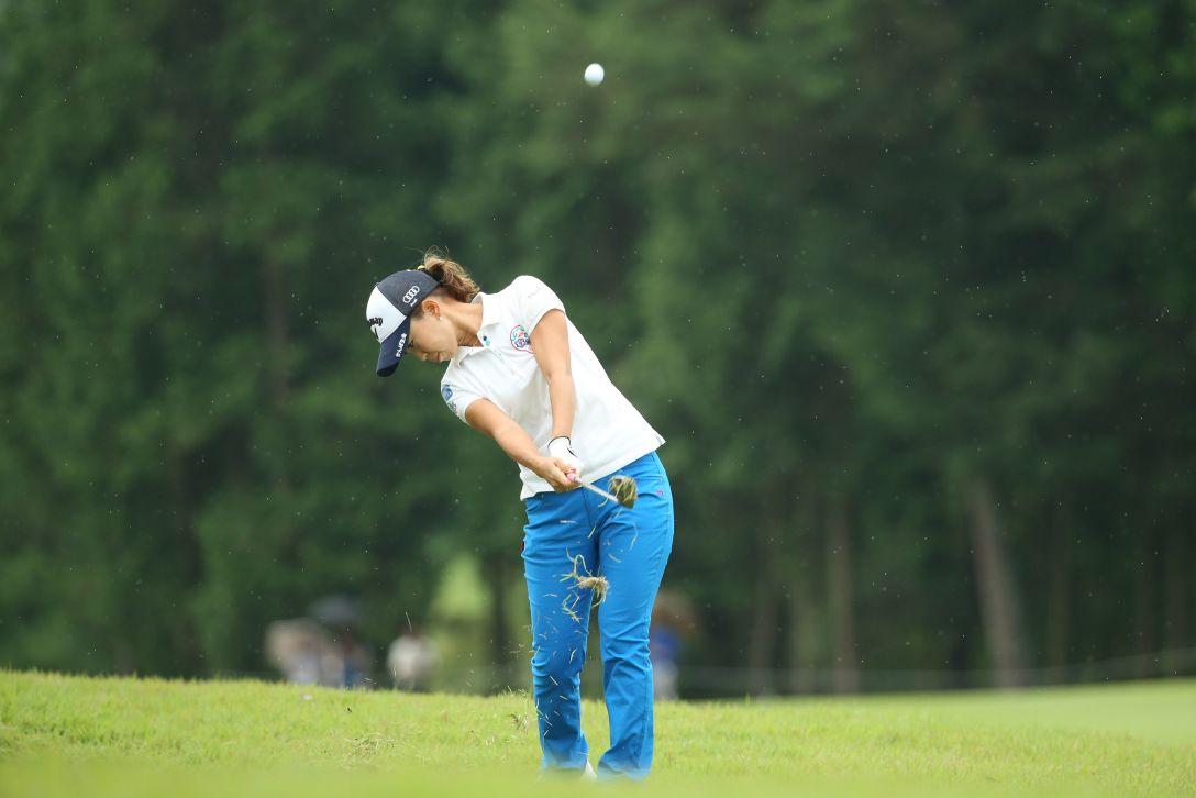 ゴルフ5レディス 最終日 上田桃子<写真:Atsushi Tomura/Getty Images>