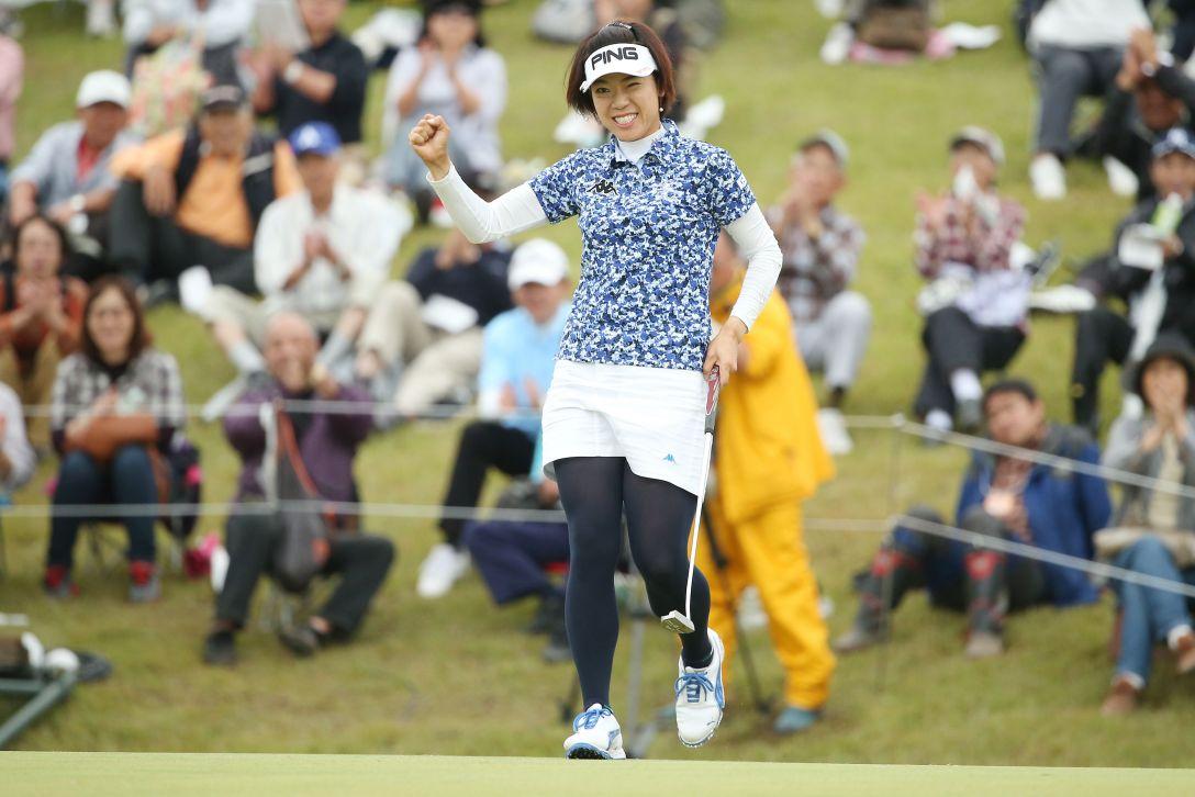 ミヤギテレビ杯ダンロップ女子オープン 2日目 大山志保<写真:Atsushi Tomura/Getty Images>