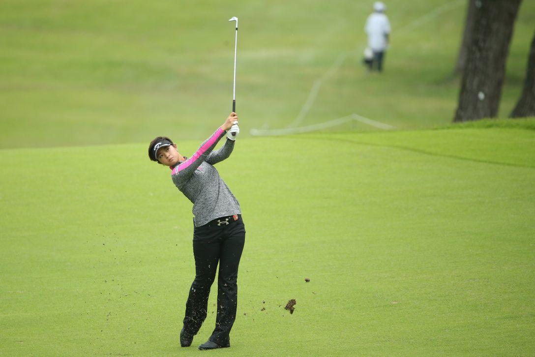 日本女子オープンゴルフ選手権 1日目 柏原明日架<写真:Atsushi Tomura/Getty Images>