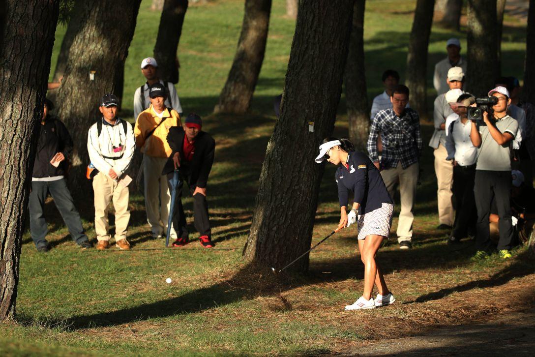 日本女子オープンゴルフ選手権 2日目 ユソヨン<写真:Atsushi Tomura/Getty Images>
