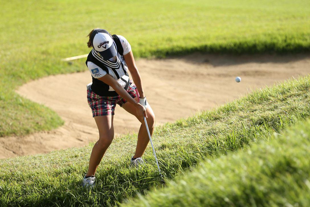 日本女子オープンゴルフ選手権 2日目 上田桃子<写真:Atsushi Tomura/Getty Images>