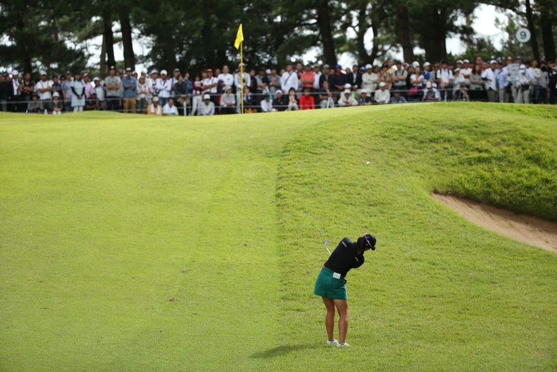 日本女子オープンゴルフ選手権 2日目 チョンインジ<写真:Atsushi Tomura/Getty Images>