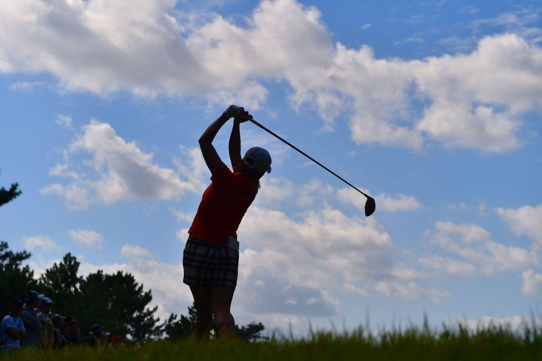 日本女子オープンゴルフ選手権 3日目 原江里菜<写真:Atsushi Tomura/Getty Images>