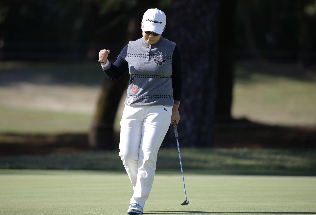 LPGAツアーチャンピオンシップリコーカップ 1日目 申ジエ<写真:Chung Sung-Jun/Getty Images>