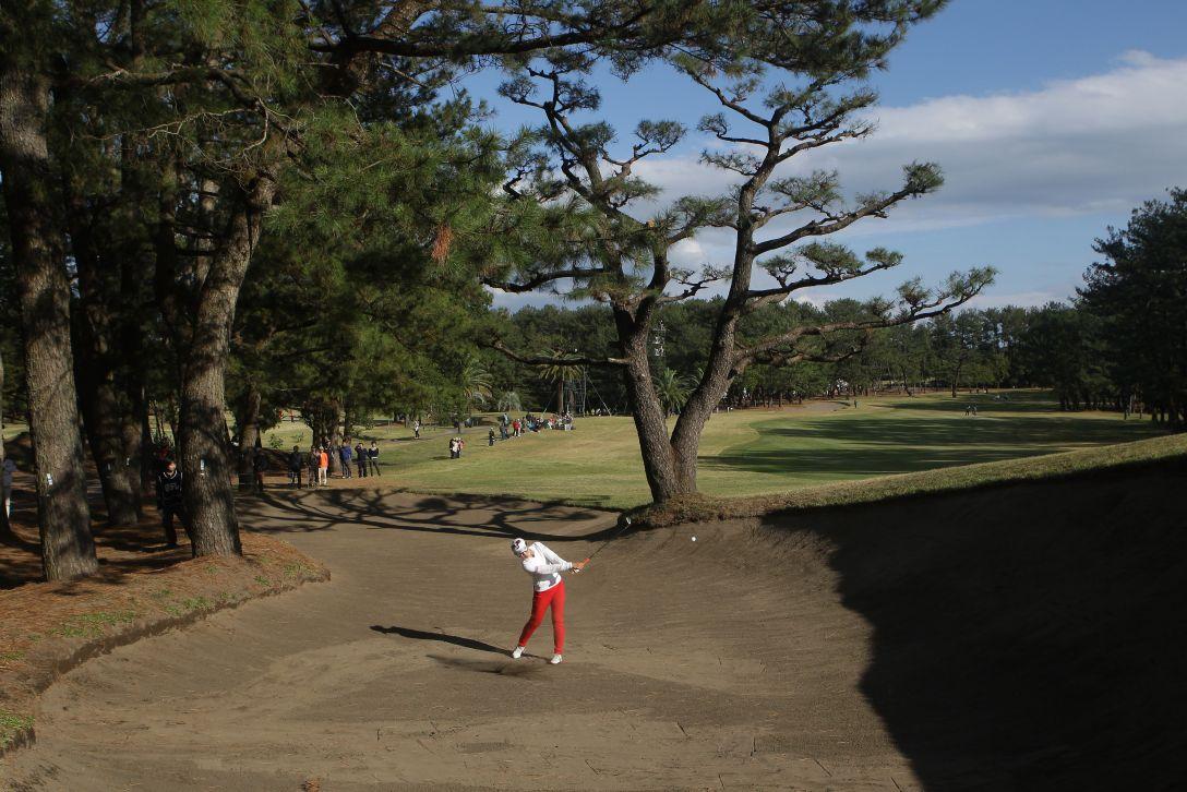 LPGAツアーチャンピオンシップリコーカップ 1日目 渡邉彩香<写真:Chung Sung-Jun/Getty Images>