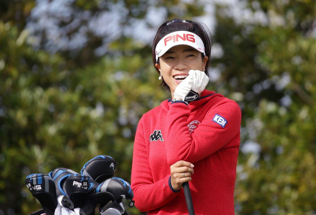LPGAツアーチャンピオンシップリコーカップ 1日目 大山志保<写真:Chung Sung-Jun/Getty Images>