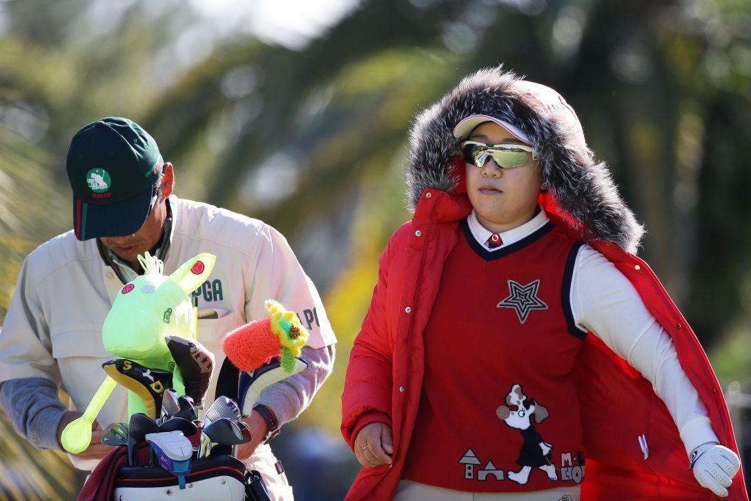 LPGAツアーチャンピオンシップリコーカップ 2日目 申ジエ<写真:Chung Sung-Jun/Getty Images>