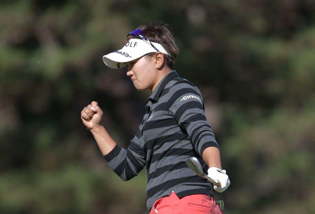 LPGAツアーチャンピオンシップリコーカップ 2日目 成田美寿々<写真:Chung Sung-Jun/Getty Images>