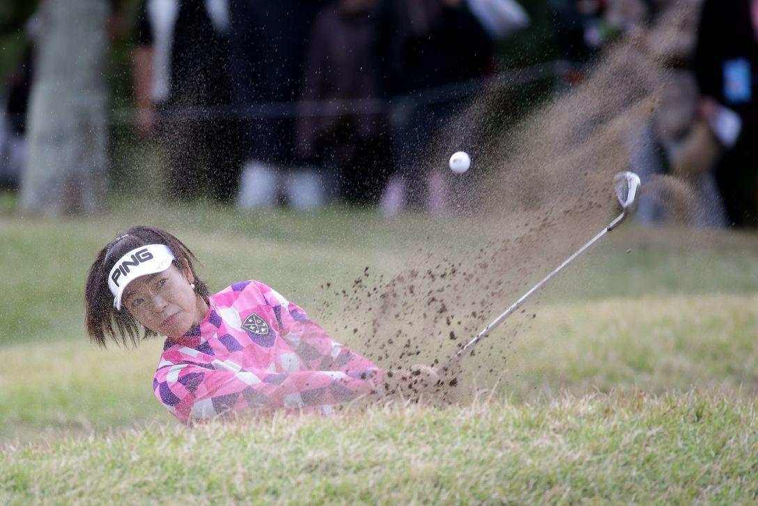 LPGAツアーチャンピオンシップリコーカップ 3日目 大山志保<写真:Chung Sung-Jun/Getty Images>