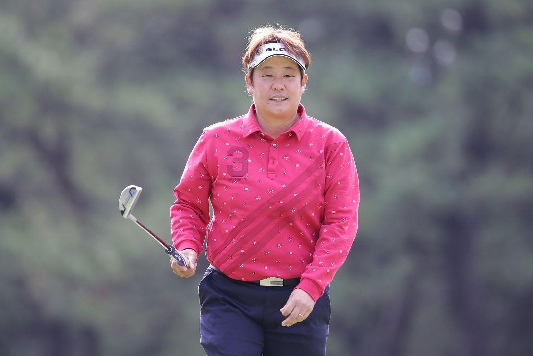 LPGAツアーチャンピオンシップリコーカップ 3日目 表純子<写真:Chung Sung-Jun/Getty Images>