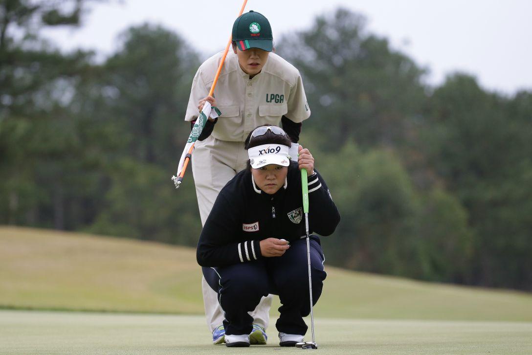 LPGAツアーチャンピオンシップリコーカップ 最終日 酒井 美紀 <写真:Chung Sung-Jun/Getty Images>