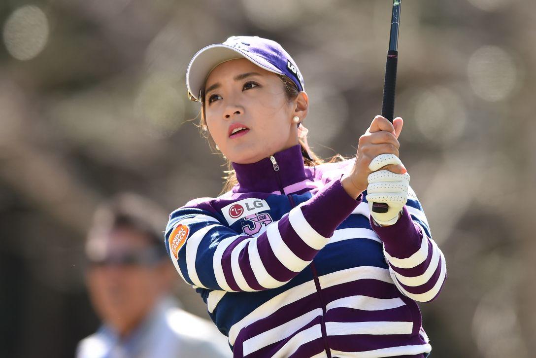 ヨコハマタイヤゴルフトーナメント PRGRレディスカップ 1日目 イボミ