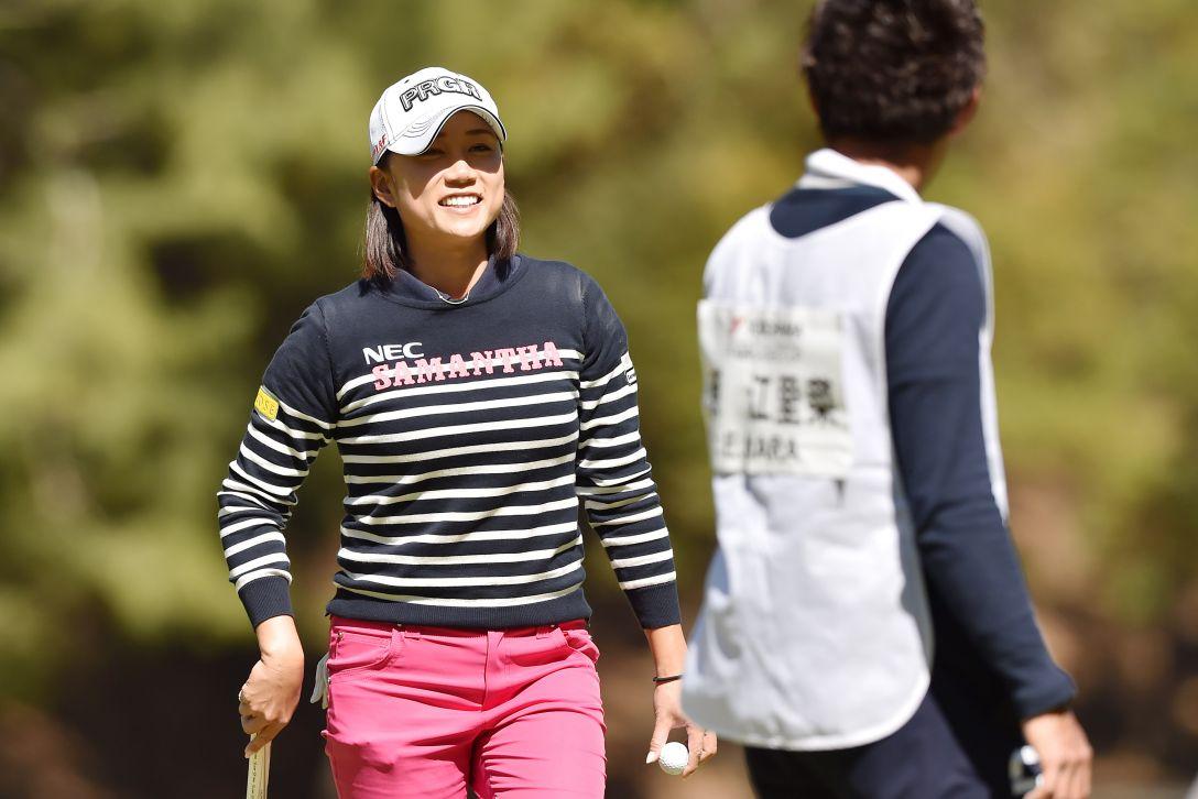 ヨコハマタイヤゴルフトーナメントPRGRレディスカップ 2日目 原江里菜 <Photo:Atsushi Tomura/Getty images>