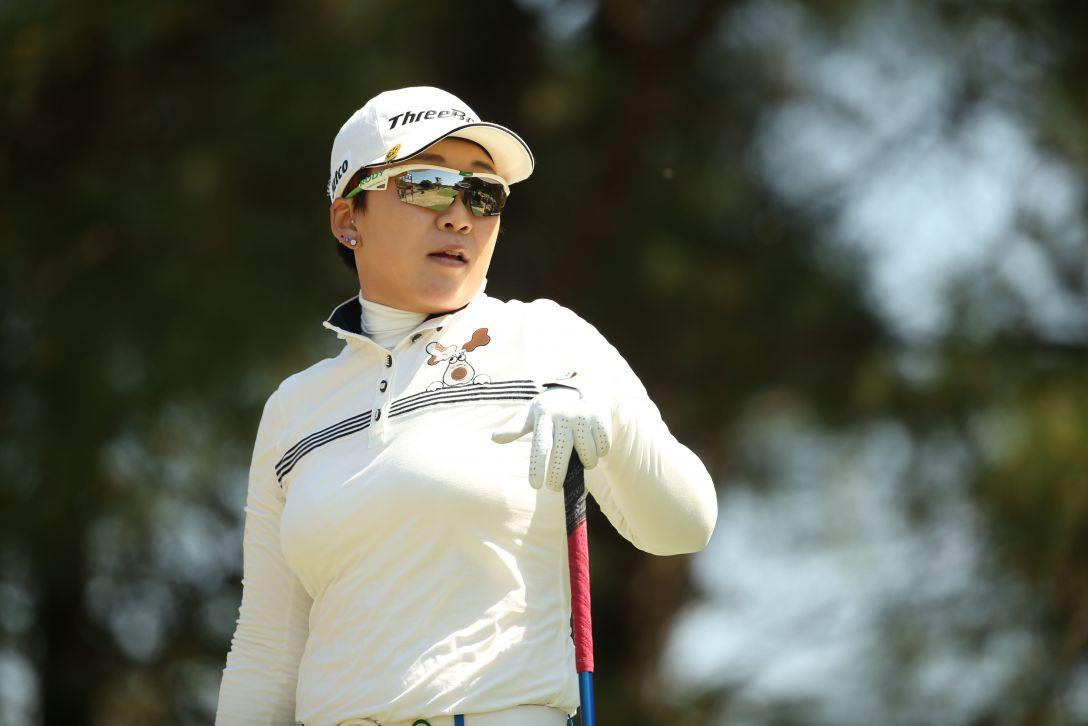 アクサレディスゴルフトーナメント 2日目 申 ジエ <Photo:Atsushi Tomura/Getty Images>
