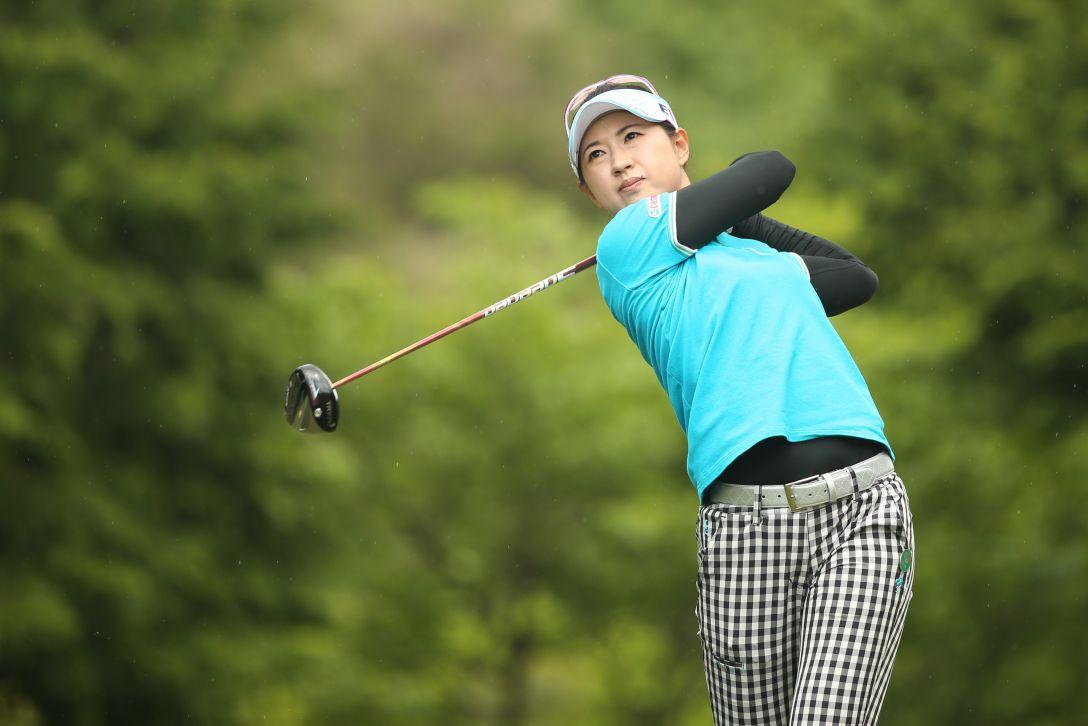 サイバーエージェント レディスゴルフトーナメント 1日目 川満 陽香理 <Photo:Atsushi Tomura/Getty Images>