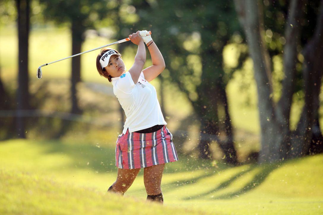 サイバーエージェント レディスゴルフトーナメント 2日目 鈴木 愛 <Photo:Atsushi Tomura/Getty Images>