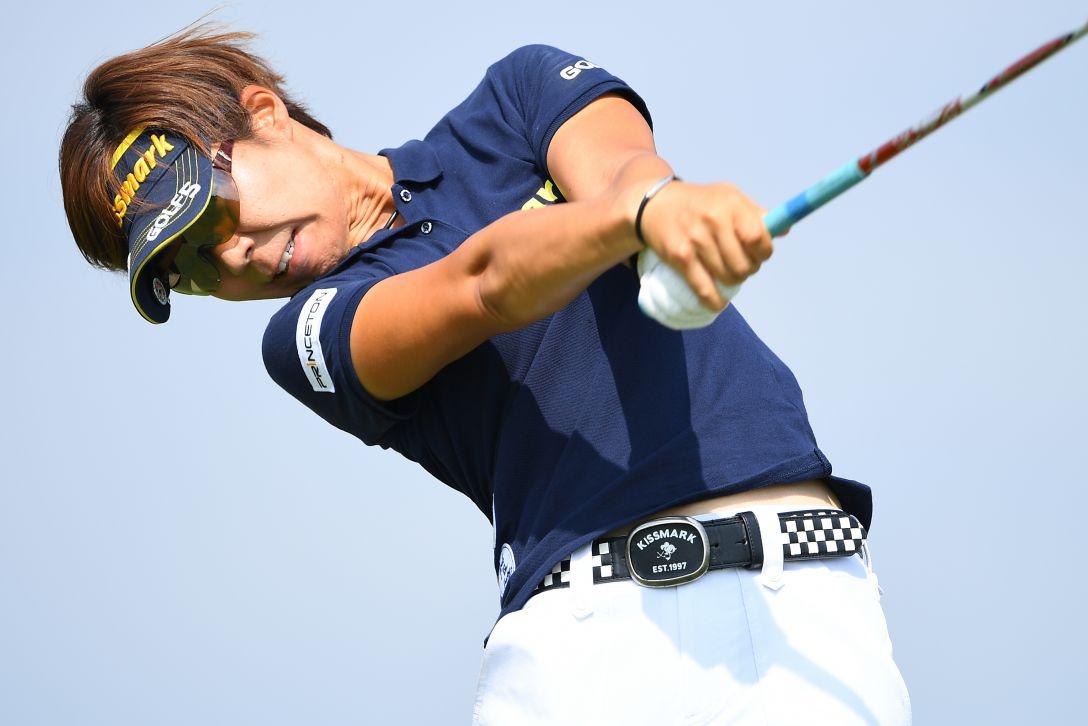 ゴルフ5レディス プロゴルフトーナメント 1日目 穴井詩 <Photo:Masterpress/Getty Images>