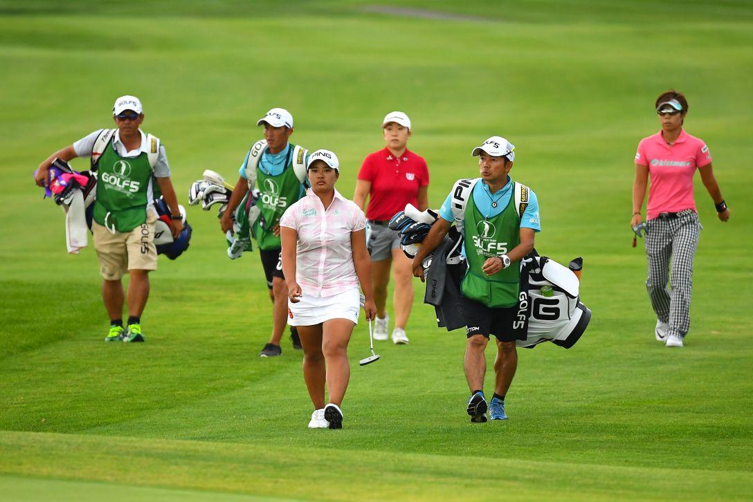 ゴルフ5レディス プロゴルフトーナメント 2日目 鈴木愛 穴井詩 申ジエ <Photo:Masterpress/Getty Images>