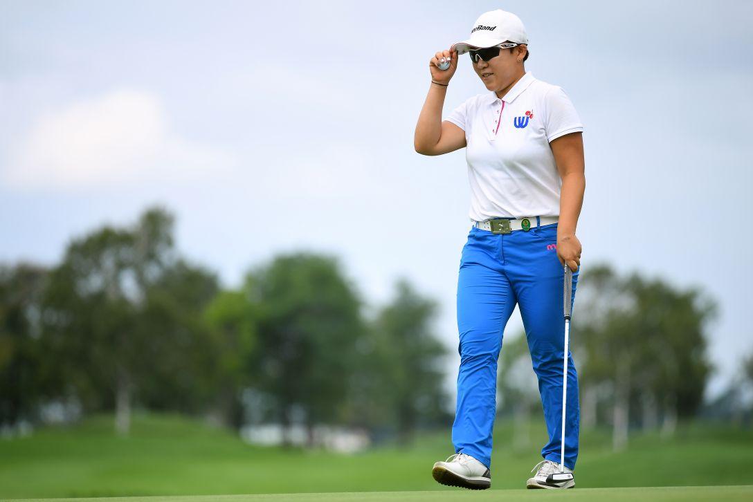 ゴルフ5レディス プロゴルフトーナメント 最終日 申ジエ <Photo:Masterpress/Getty Images>