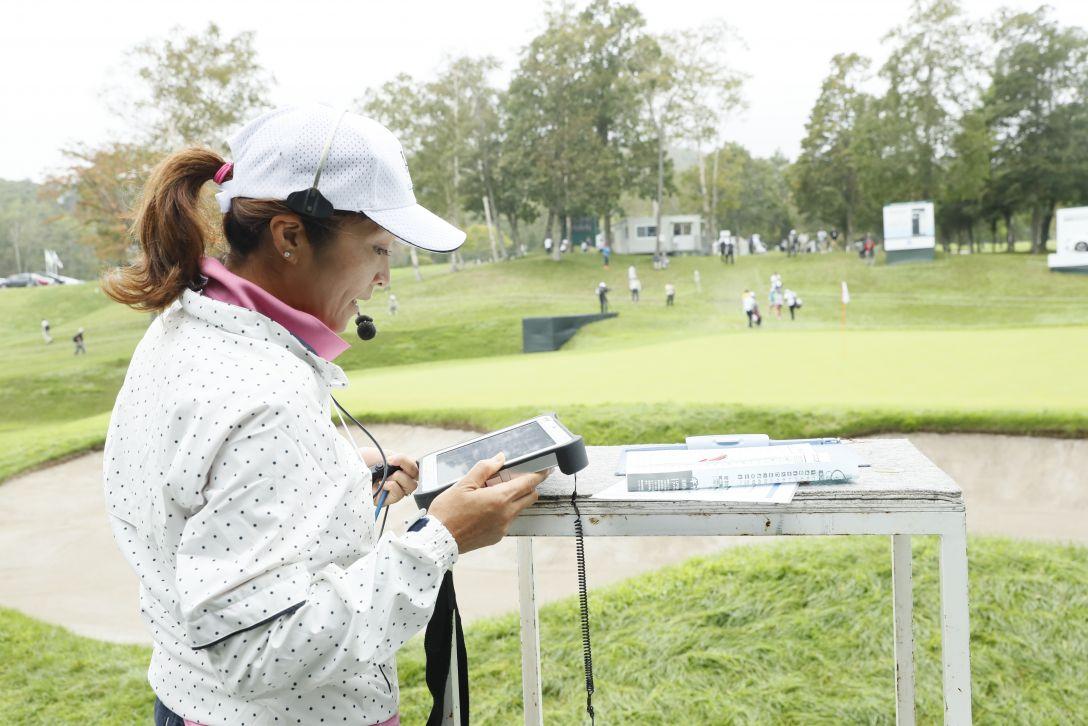 日本女子プロゴルフ選手権大会コニカミノルタ杯 最終日 野村七重 <Photo:Ken Ishii/Getty Images>