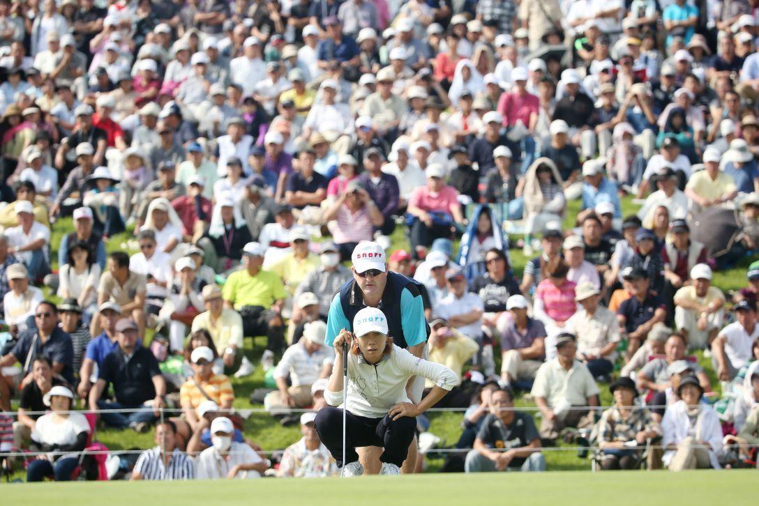 ミヤギテレビ杯ダンロップ女子オープンゴルフトーナメント 最終日 李知姫 <Photo:Atsushi Tomura/Getty Images>