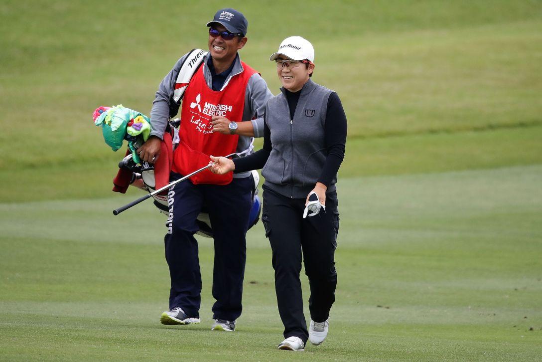 樋口久子 三菱電機レディスゴルフトーナメント 最終日 申ジエ <Photo:Chung Sung-Jun/Getty Images>