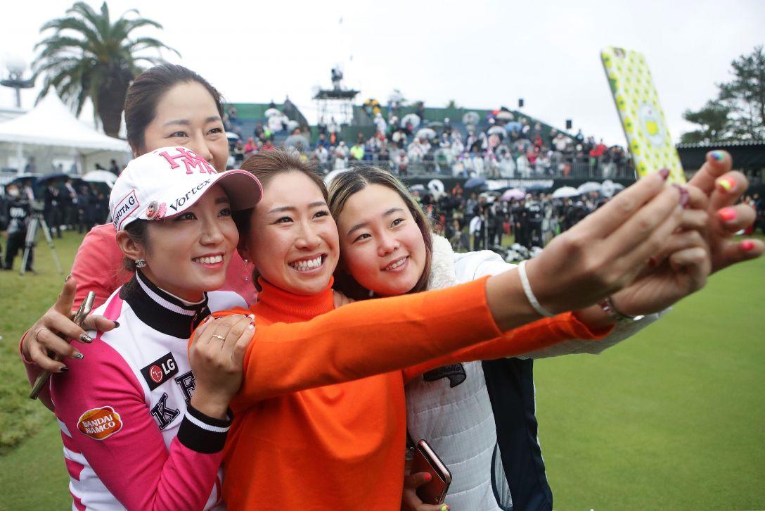 LPGAツアーチャンピオンシップリコーカップ 最終日 姜 秀衍 イ ボミ 木戸 愛 アン ソンジュ <Photo:Chung Sung-Jun/Getty Images>