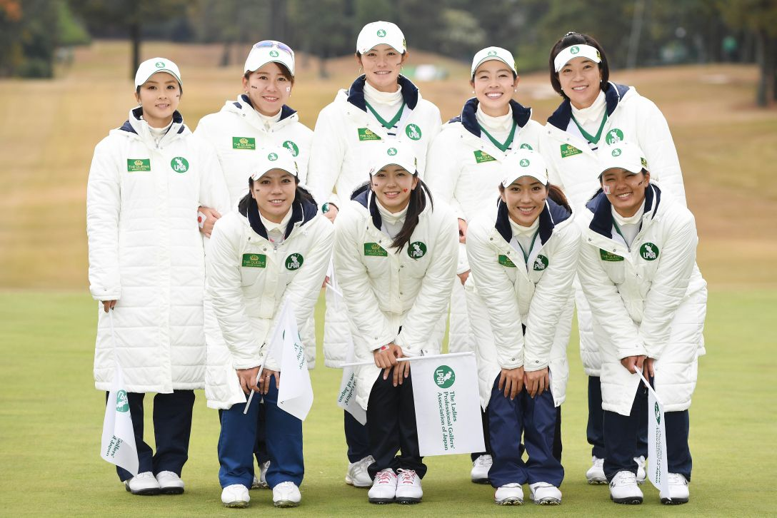 THE QUEENS 最終日 日本女子プロゴルフ協会(LPGA of Japan)チーム <Photo:Atsushi Tomura/Getty Images>