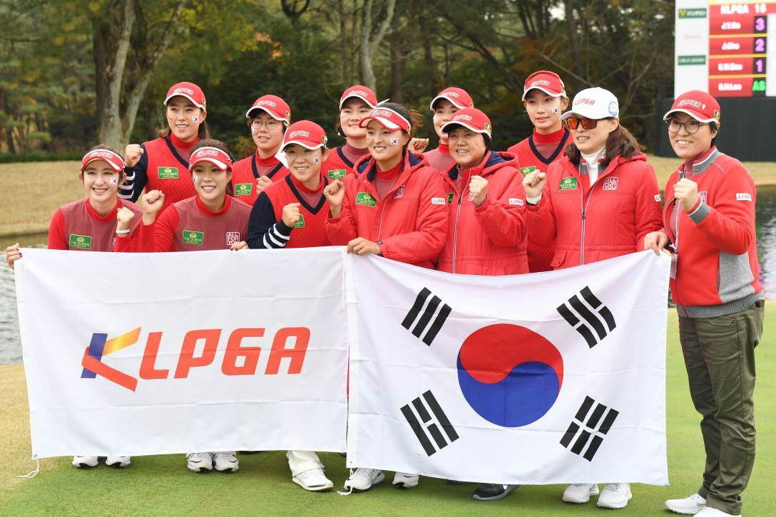THE QUEENS 最終日 韓国女子プロゴルフ協会(KLPGA)チーム <Photo:Atsushi Tomura/Getty Images>