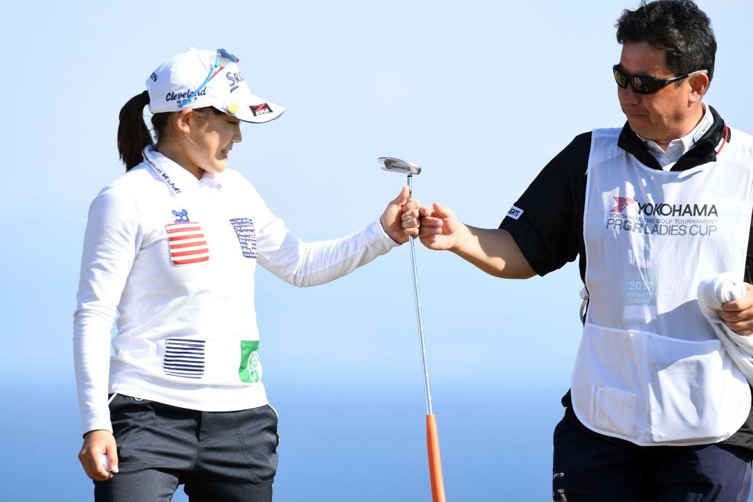 ヨコハマタイヤゴルフトーナメント PRGRレディスカップ 2日目 藤崎 莉歩 <Photo:Atsushi Tomura/Getty Images>