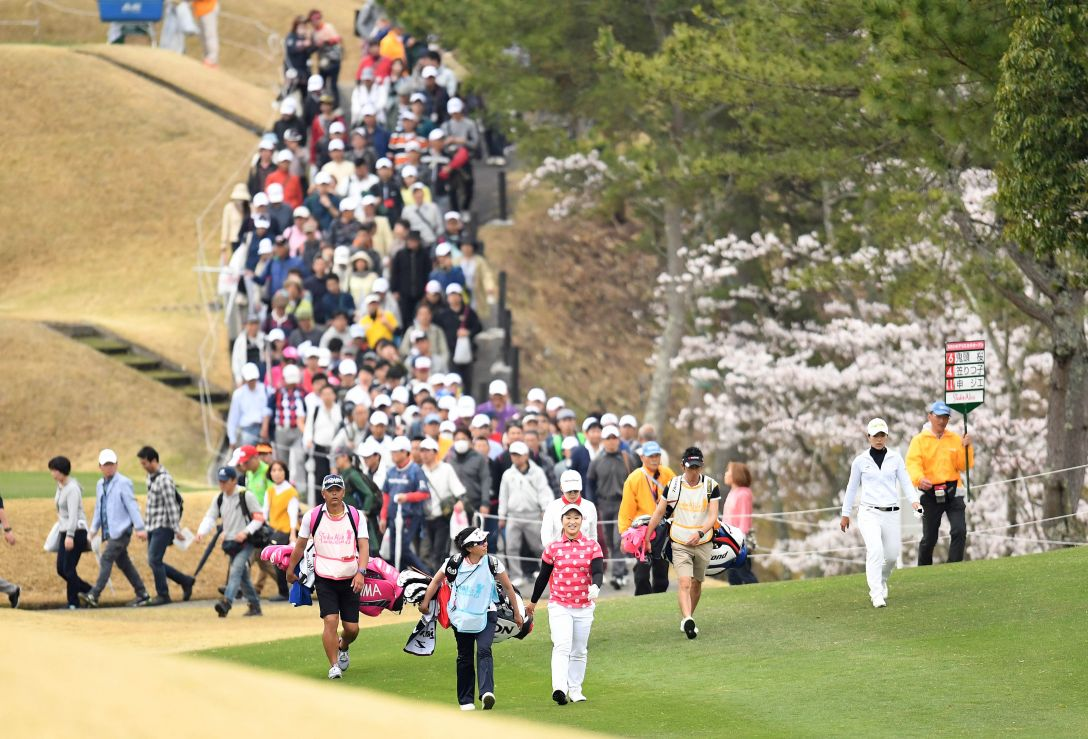 スタジオアリス女子オープン 2日目 鬼頭桜 <Photo:Atsushi Tomura/Getty Images>