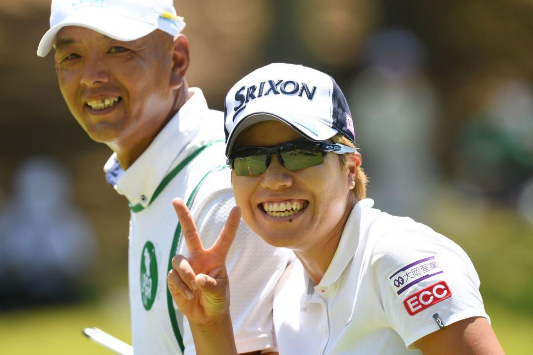 上サントリーレディスオープンゴルフトーナメント 2日目 岡山絵里 <Photo:Atsushi Tomura/Getty Images>