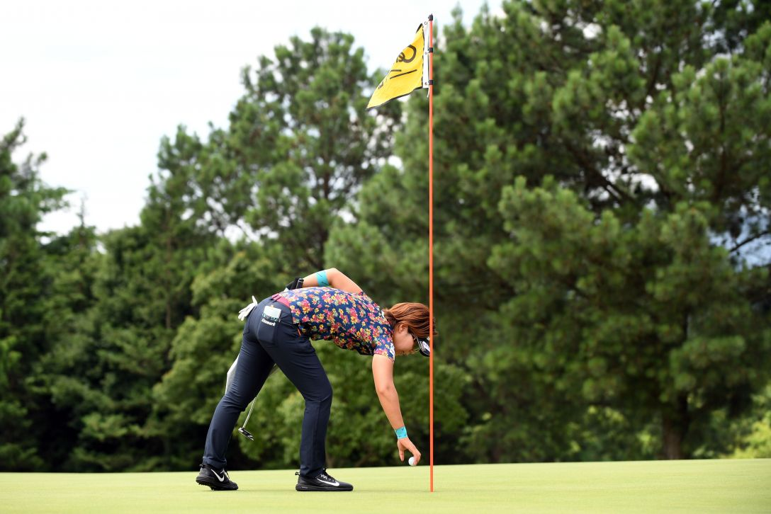 センチュリー21レディスゴルフトーナメント 2日目 穴井 詩 <Photo:Atsushi Tomura/Getty Images>