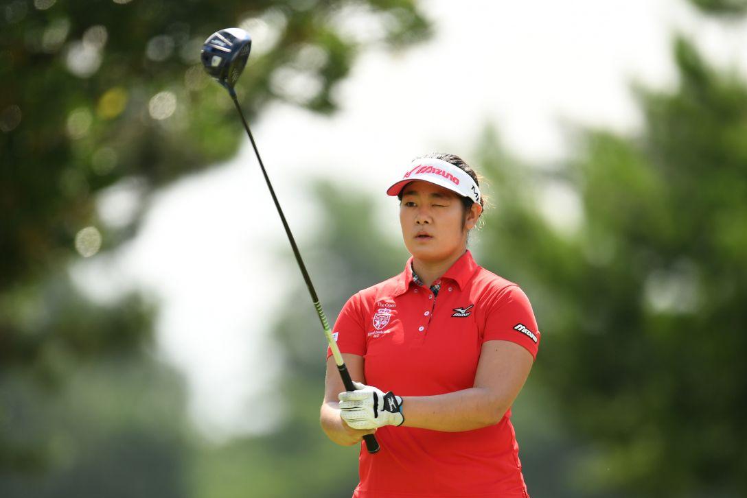 センチュリー21レディスゴルフトーナメント 2日目 川岸 史果 <Photo:Atsushi Tomura/Getty Images>