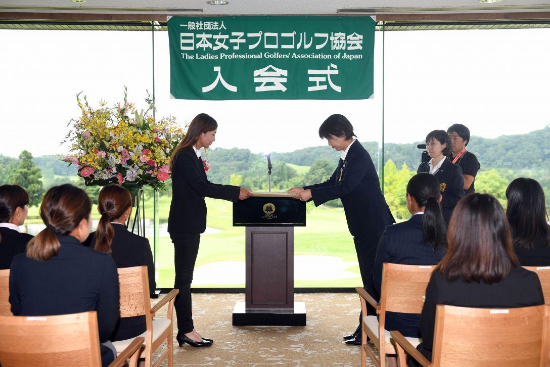 LPGA入会式 松田鈴英<Photo:Atsushi Tomura/Getty Images>