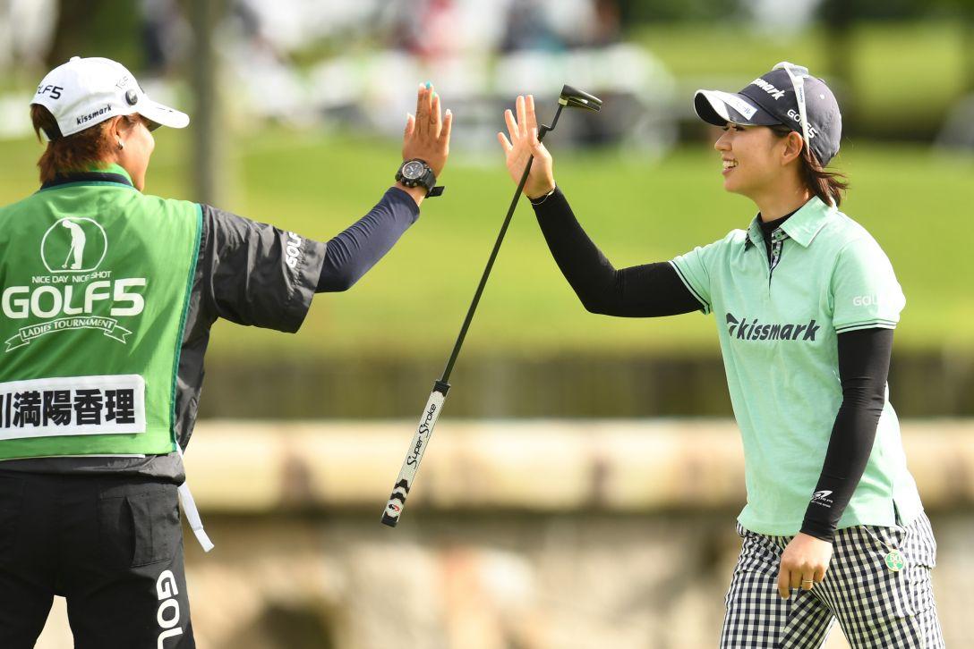 ゴルフ5レディス プロゴルフトーナメント 2日目 川満陽香理 <Photo:Atsushi Tomura/Getty Images>