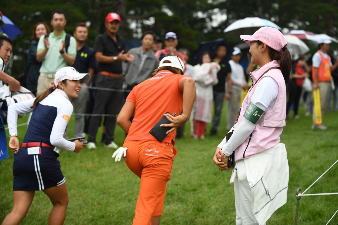 日本女子プロゴルフ選手権大会コニカミノルタ杯 1日目 イボミ