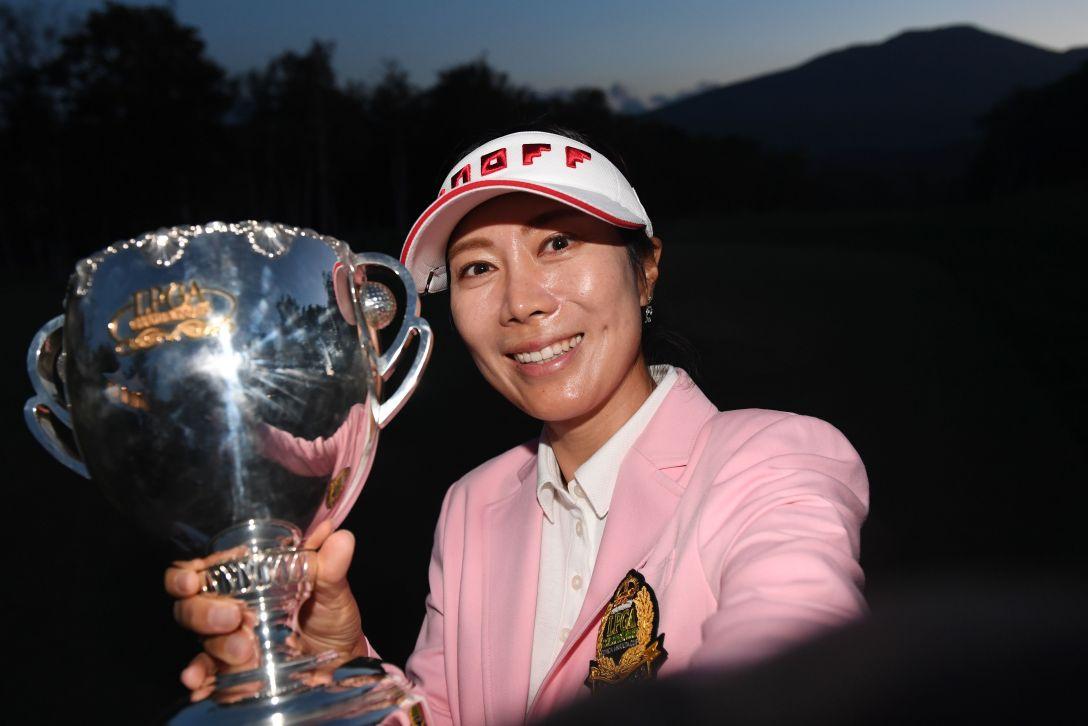 日本女子プロゴルフ選手権大会コニカミノルタ杯 最終日 李知姫 <Photo:Atsushi Tomura/Getty Images>