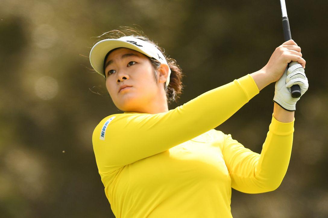 ミヤギテレビ杯ダンロップ女子オープンゴルフトーナメント 1日目 川岸 史果 <Photo:Atsushi Tomura/Getty Images>