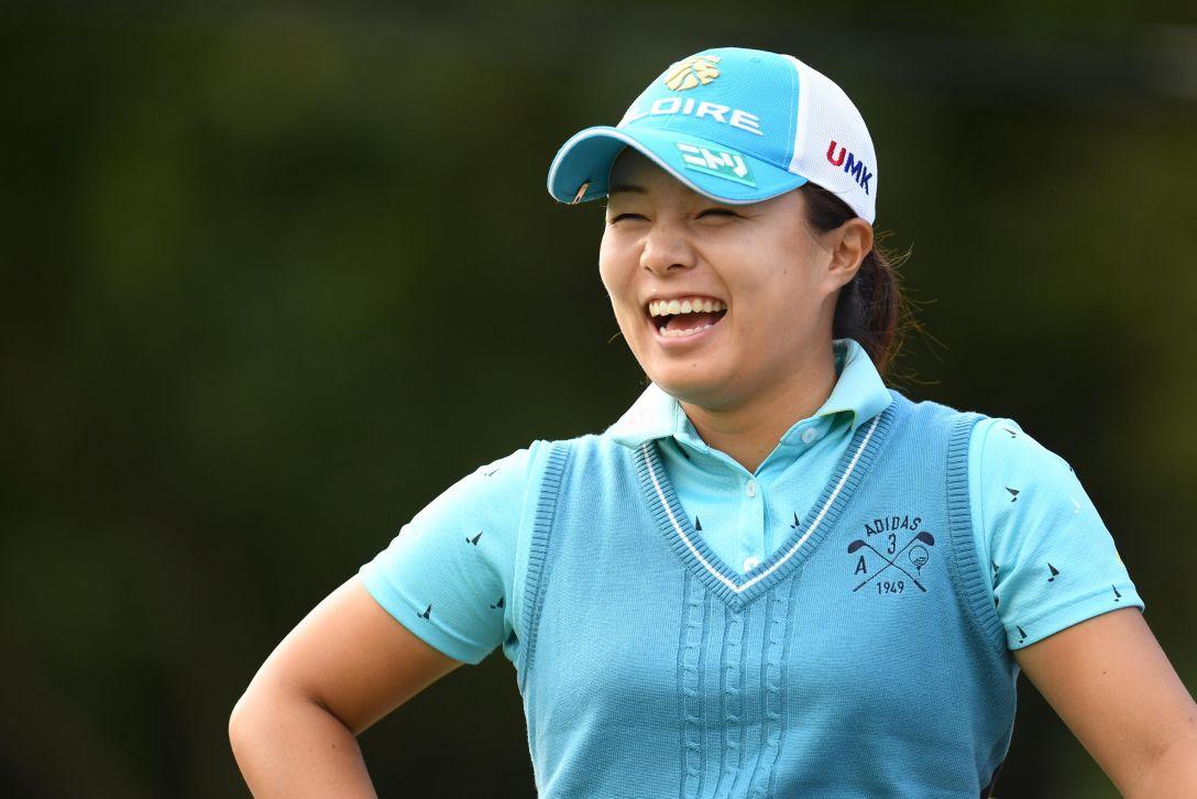 ミヤギテレビ杯ダンロップ女子オープンゴルフトーナメント 1日目 永峰 咲希 <Photo:Atsushi Tomura/Getty Images>