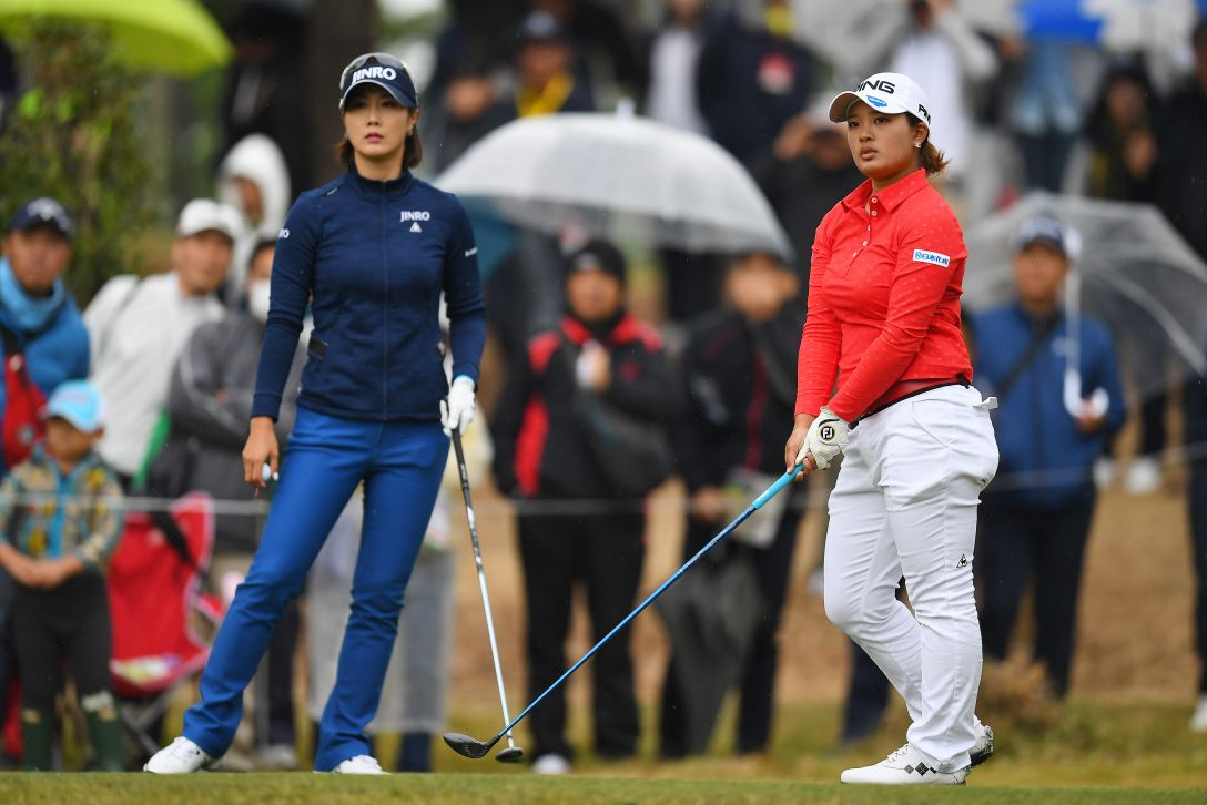 LPGAツアーチャンピオンシップリコーカップ 最終日 鈴木愛 キムハヌル <Photo:Atsushi Tomura/Getty Images>