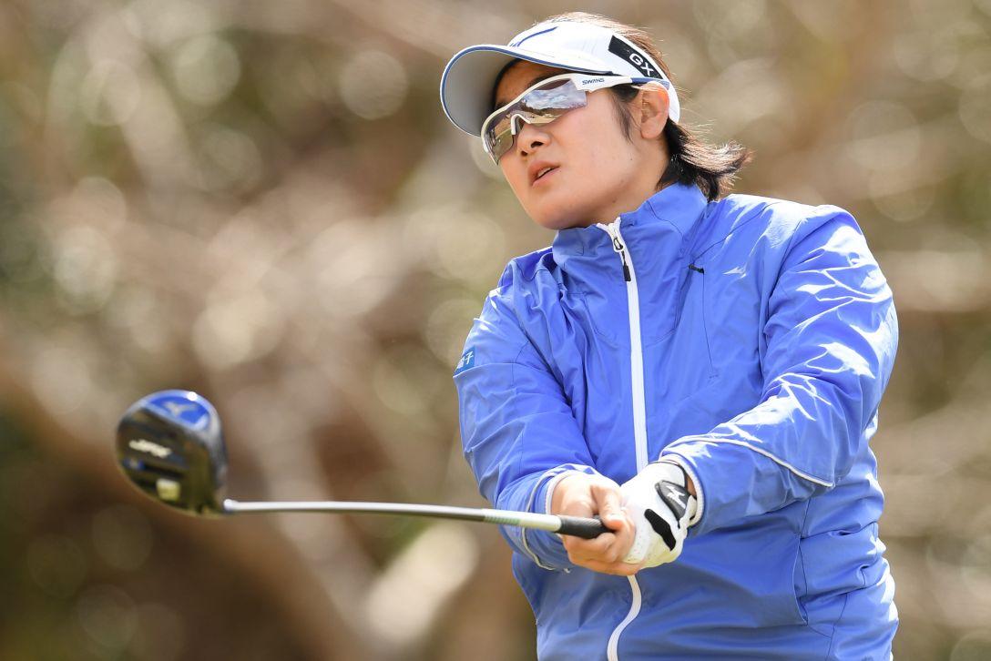 ヨコハマタイヤゴルフトーナメント PRGRレディスカップ 第1日 川岸史果 <Photo:Atsushi Tomura/Getty Images>