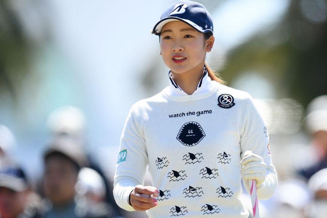 ヨコハマタイヤゴルフトーナメント PRGRレディスカップ 第2日 松田 鈴英 <Photo:Atsushi Tomura/Getty Images>